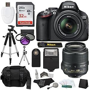 Nikon D5100 DSLR Camera with 18-55mm f/3.5-5.6 AF-S Nikkor Zoom Lens + 32 GB SanDisk Ultra + Gadget Bag + Tripods + Filters + Flash + Extra Accessories