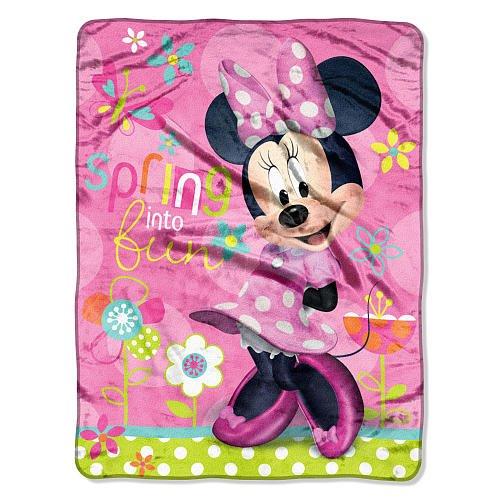 Disney Minnie Mouse Micro Raschel Throw Garden Party front-205702