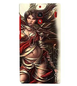 PrintVisa Hot & Sexy Angel Girl 3D Hard Polycarbonate Designer Back Case Cover for Xiaomi Redmi 1S