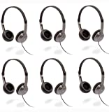Cyber Acoustics (ACM-7000) 6-Pack Stereo Headphones for Children K-12