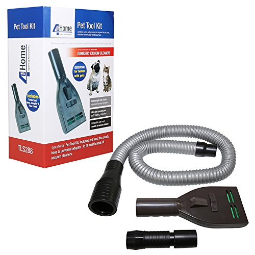 Pet Groom Vacuum Attachment Tool Kit W/ Hose Brush Flea Comb Fits Dyson & More
