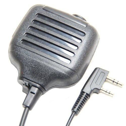 Heavy Duty 2-Pin Shoulder Remote Speaker Mic Microphone Ptt For Kenwood Kenwood Radio Tk3118 Tk3130 Tk3131 Tk3160 Tk3170 Tk3173 Etc 2Pin