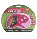 Pink 5M-16FT Retractable Dog Lead Leash Heavy Duty Comfortable Grip