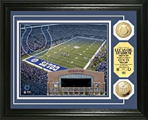 NFL Indianapolis Colts Stadium Gold Coin Photo Mint by Highland Mint