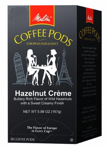 Melitta Coffee Pods, Hazelnut Creme Flavored Coffee, Medium Roast, 18-Count (Pack of 4)