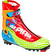 Alpina ASK Action Series Cross-Country Nordic Skate Ski Boots, Green Multi, 44
