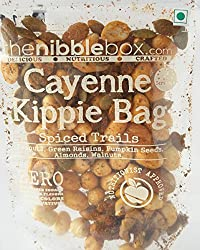 Cayenne Kippie Bag- All Natural Healthy, Nutritious, Nuts, Fruits, Seeds Spiced Trail Mix Snack -60 gms (2 packs)