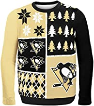Forever Collectibles NHL Pittsburgh Penguins Busy Block Ugly Sweater, Large, Black