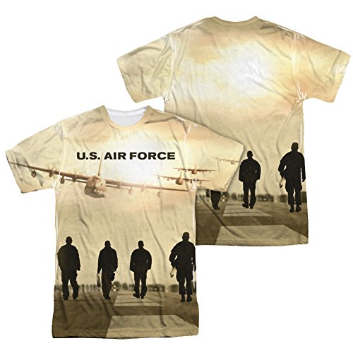 U.S. Air Force Long Walk All Over Front/Back T-Shirt AF103FB