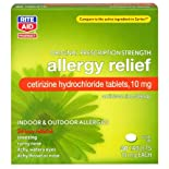 Rite Aid Allergy Relief, Cetirizine Hydrochloride 10 mg 30 tablets