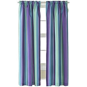 Amazon.com - Rainbow Ombre Faux Silk Curtain Panel