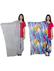 Indistar Women's Cotton Patiala Salwar With Dupatta Combo (Pack Of 2 Salwar With Dupatta) - B01HRK5TDI