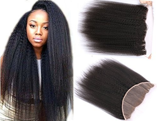 Brazilian-Virgin-Hair-Free-Part-Lace-Frontal-Closure-Kinky-Straight-13x4-Unprocessed-Remy-Human-Hair-Extensions-Front-Closures-With-Baby-Hair-Bleached-Knots-8-inches-Natural-Color-by-ABCD