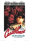 HUGE LAMINATED / ENCAPSULATED Iconic Film Casablanca Red Text POSTER measures 36 x 24 inches (91.5 x 61cm)