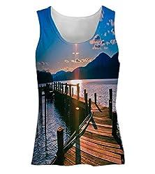 Snoogg Way To Lake Womens Tunic Casual Beach Fitness Vests Tank Tops Sleeveless T shirts