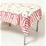 Happy Birthday Pink Cotton Tablecloth