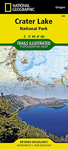 Crater Lake National Park (National Geographic Trails Illustrated Map)