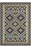 Safavieh Veranda Collection VER096-0642 Green and Chocolate Square Area Rug, 6-Feet 7-Inch