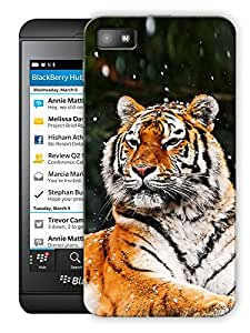"Tiger Sitting Printed Designer Mobile Back Cover For ""Blackberry Z10"" By Humor Gang (3D, Matte Finish, Premium Quality, Protective Snap On Slim Hard Phone Case, Multi Color)"