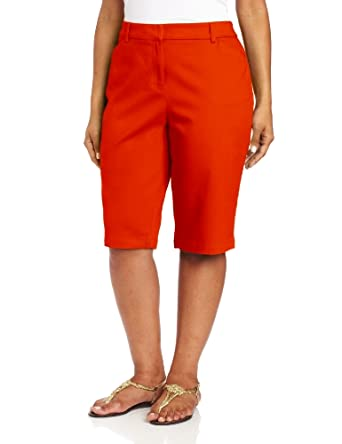 Jones New York Women's Plus-Size Classic Bermuda Short, Mandarin, 14W