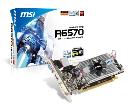 MSI AMD Radeon R6570-MD2GD3/LP Video Card - Silver/black