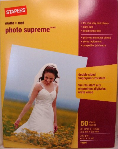 Staples Photo Supreme Paper, 8 1/2
