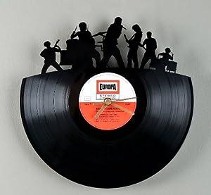 Design vinyl schallplatte wanduhr musik band wand uhr longplay 12 lp record k che - Wanduhr schallplatte ...
