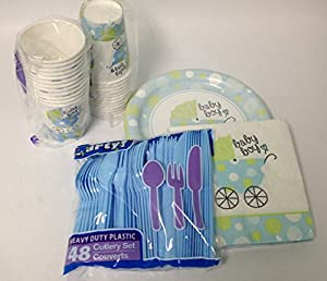 it 39 s a boy baby shower party supplies kit paper plates napkins