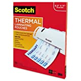Scotch Thermal Laminating Pouches 8.9 x 11.4 Inches, 100-Pack (TP3854-100)