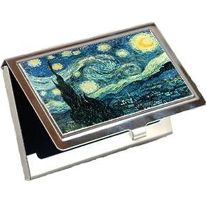 Starry Night Van Gogh Business Card Holder
