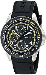Nautica Men's N13682G NSR 200 Analog Display Quartz Black Watch
