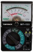 Tekpower MF133 Pocket-Size 5-Function 16-Range Analog Multimeter with 1.5V/9V Battery Tester