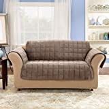 Sure Fit Deluxe Loveseat Pet Throw, Sable