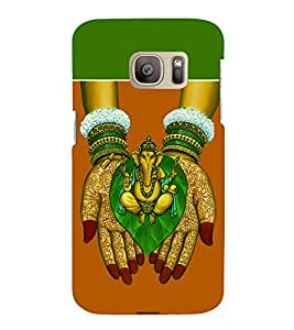 Bala Ganapati 3D Hard Polycarbonate Designer Back Case Cover for Samsung Galaxy S7 Edge :: Samsung Galaxy S7 Edge Duos G935F