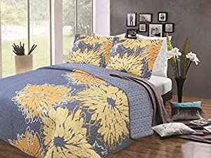 Virah Bella Collection Printed Quilt 3PC Set Chloe