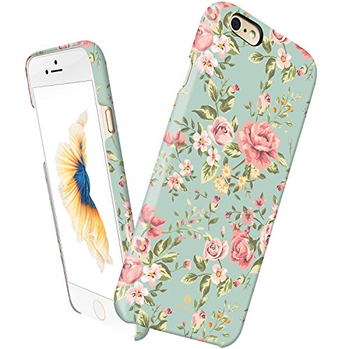 iPhone 6 6s case for girls, Akna Vintage Obsession Series High Impact Slim Hard Case with Soft Fabric Interior for both iPhone 6 & iPhone 6s [Retail Packing][Retro Elegant Green](U.S) (Iphone 6 Vintage Case compare prices)