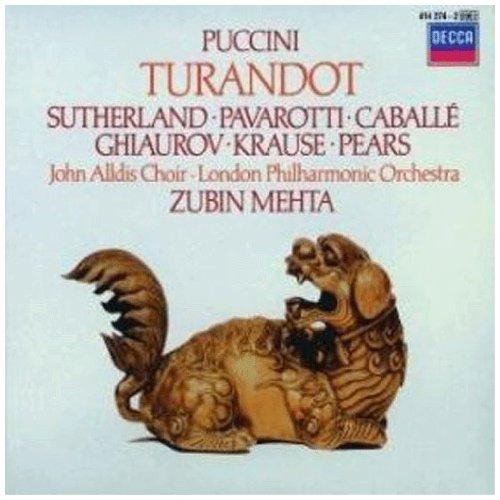 Turandot (Sutherland-Pavarotti-Caballe -Metha) - Puccini - CD