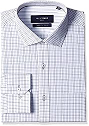 Jadeblue Men's Formal Shirt (1116204215PTJ2_15PT_42_White and Black)