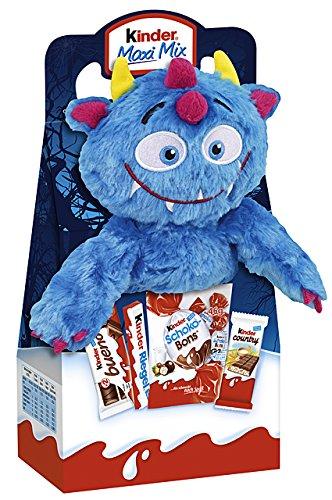 Kinder Halloween Mostro peluche 23cm Bad Blue con Kinder Maxi, Bueno eccetera 133g