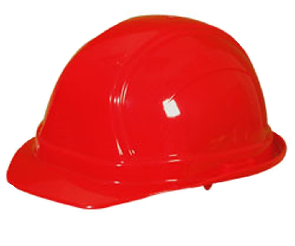 12PCK-Regular Brim Hard Hat (Squeeze Lock Suspension) - RED-One-Size