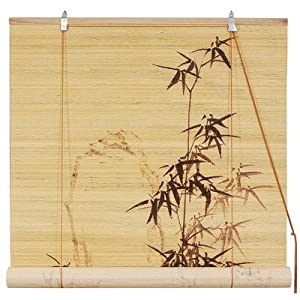 Bamboo Design Blinds in Black from Oriental Furniture