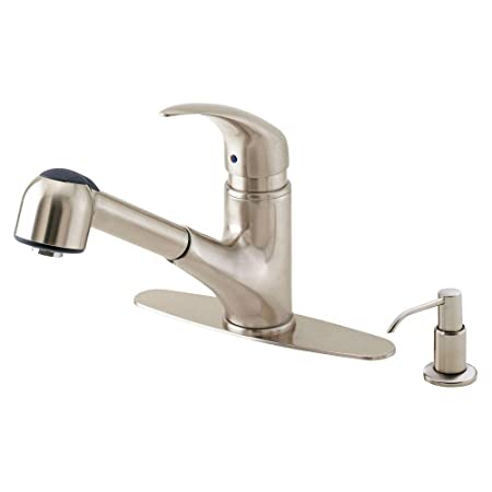 Danze - Melrose Single Handle Pull-Out Sprayer Kitchen Faucet in Stainless Steel - Stainless Steel