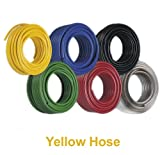 30m Yellow Braided Reinforced PVC High Performance Garden Hose - 1/4