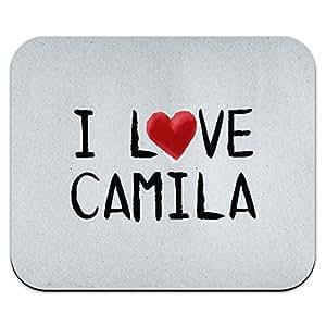 Amazon.com : I Love Camila Written on Paper Mouse Pad Mousepad