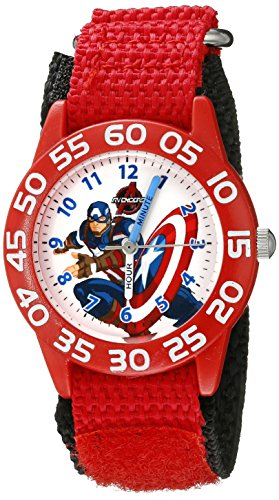 Marvel Kids' W002601 Captain America Time Teacher Analog Display Analog