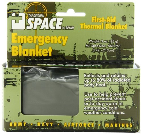 Grabber Outdoors The Original Space Brand Emergency Tactical-Survival Blanket- Olive-Drab/Silver (Pack Of 3) Reflects & Retains 80% Of Radiated Body Heat Store In Car, Camper, Boat, Or Gear Bag In Case Of Emergency, Or Use After Marathons Or Sporting Even