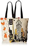 #9: Kanvas Katha Women's Combo Tote Bag (Pack of 2) (Off-White) (KKCAMZOCT001-KKCAMZOCT002)