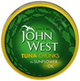 John West Tuna Chunks In Oil 185 g (Pack of 4)