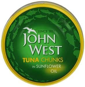 John West Tuna Chunks In Oil 185 g (Pack of 4)