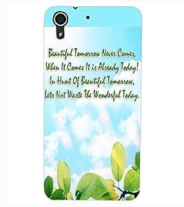 ColourCraft Quote Design Back Case Cover for HTC DESIRE 626s